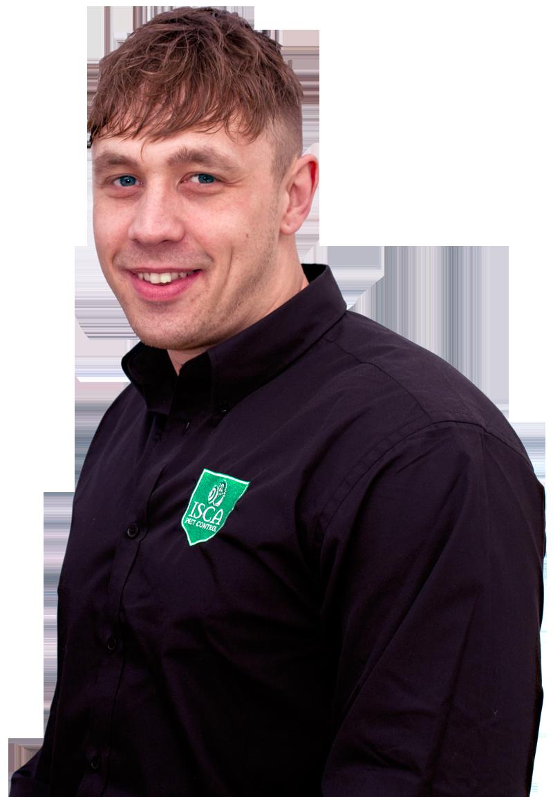 Daniel Schofield of Isca Pest Control, Exeter, Devon