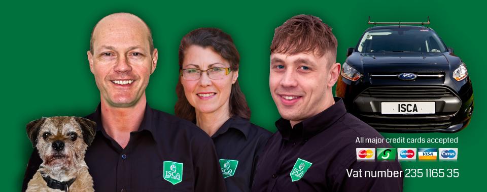 Isca Pest Control in Exeter Devon website header