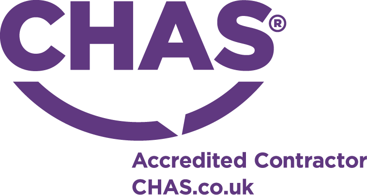 Chas accredited contractor logo purple