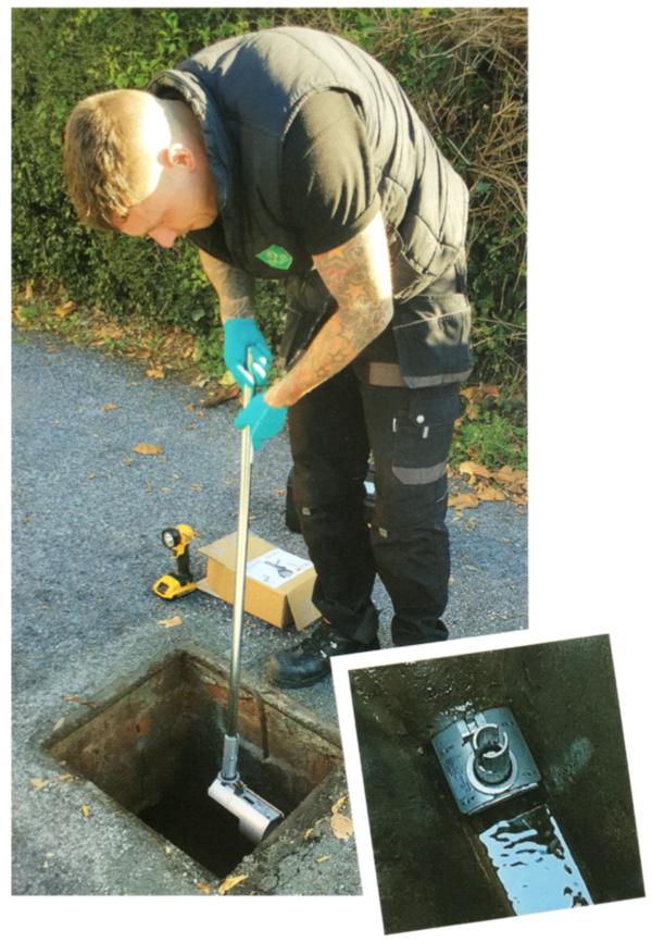 Isca Pest Control Dan installing Rat Blocker Exeter Devon